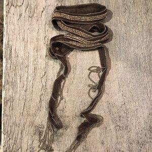 Chan Luu silk chiffon beaded wrap bracelet